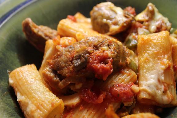 Rigatoni with Italian Sausage | Homespuncafe