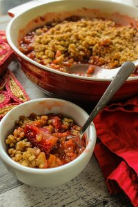 Old-fashioned Strawberry Rhubarb Crisp